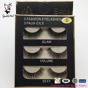 Sparkle Customized Private Label 3D Real Mink Fur False Eyelash