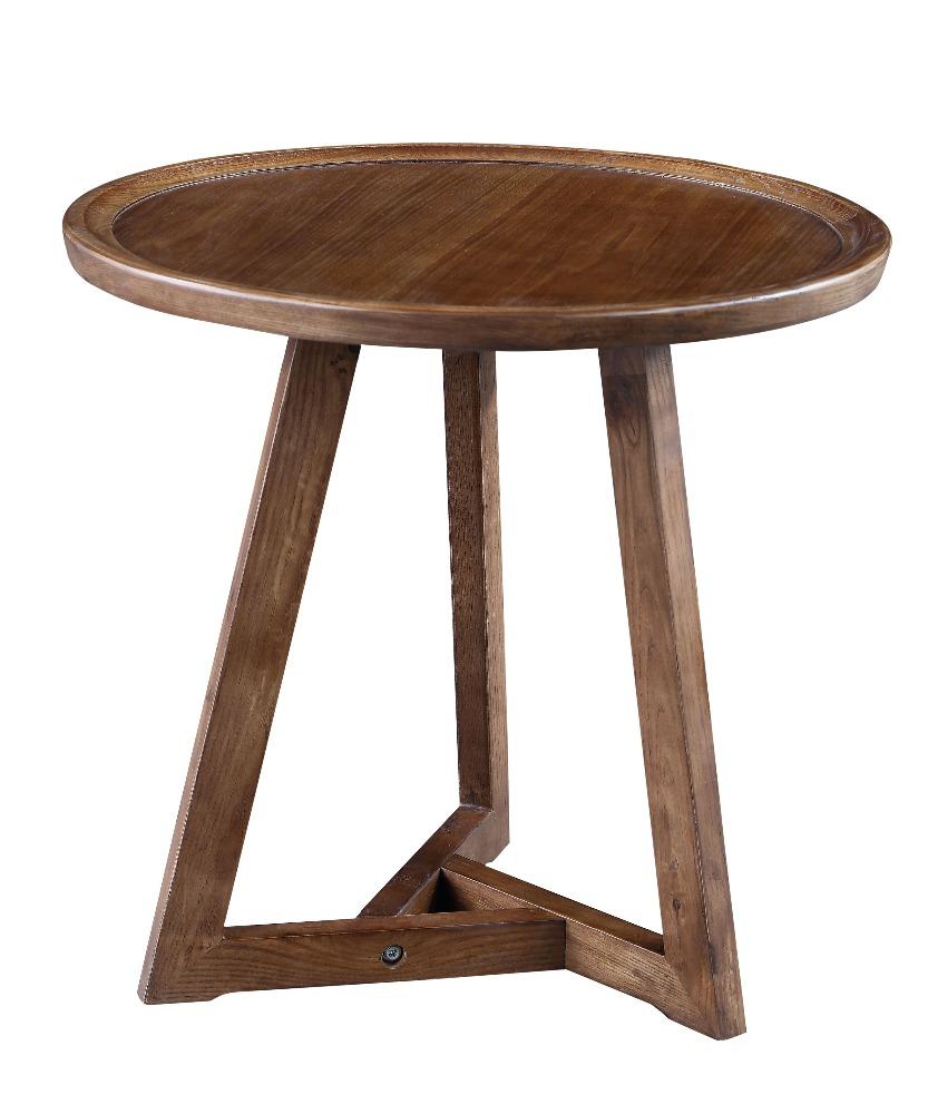 Venta al por mayor mesas redondas peque as de madera - Mesa de madera redonda ...