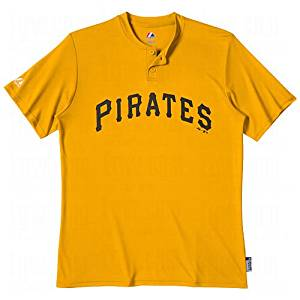 Get Quotations · Majestic Men s Pirates MLB Cooperstown 2-Button Baseball  Jersey 8b67ecbe5