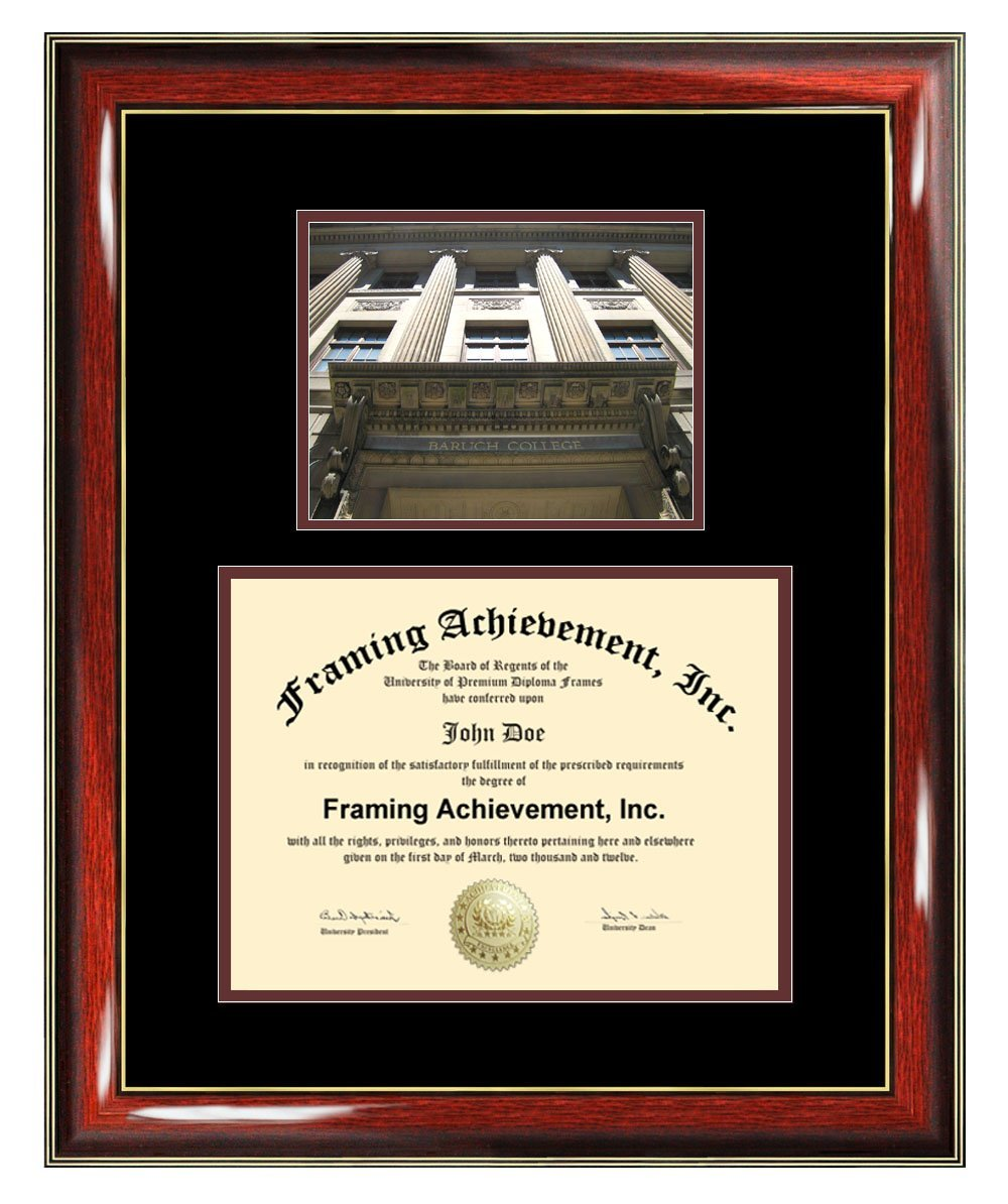 Baruch College of the City University of New York CUNY Diploma Frame - Graduation Degree Frame - Matted Certificate Plaque Framing Graduate Gift