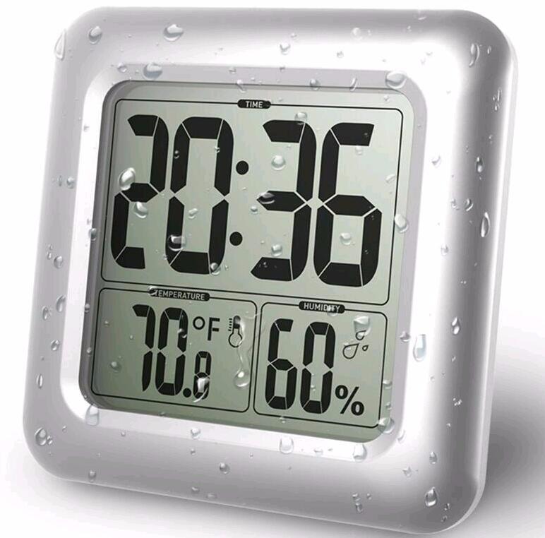 Grote Digitale Wandklok Waterdichte Thermometer Hygrometer Klok Voor ...
