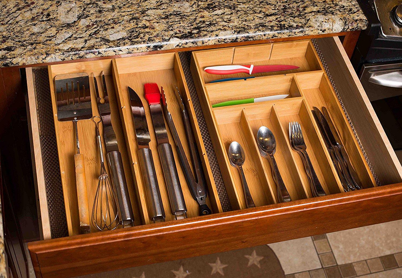 High Quality bamboo drawer organizer 3