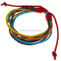 Wholesale cotton rope cheap price rainbow color gay pride bracelet on alibaba