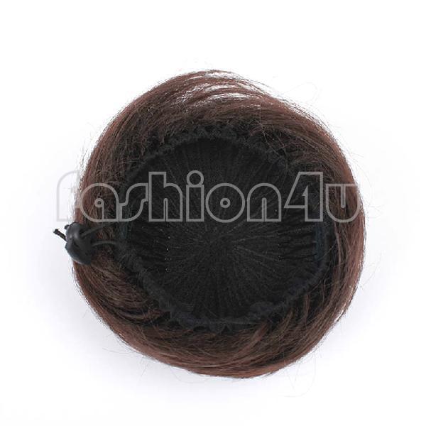 Eq7448 наращивание волос булочка прически шнурок парики scrunchie темно-коричневый