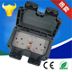 IP67 RCD Double socket with fuse switch meet BS and Saso standard