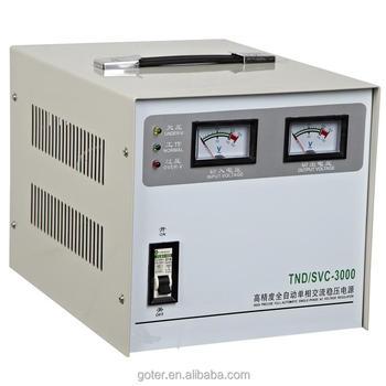 3000va Single Phase Svc Ac Servo Motor Voltage Stabilizer