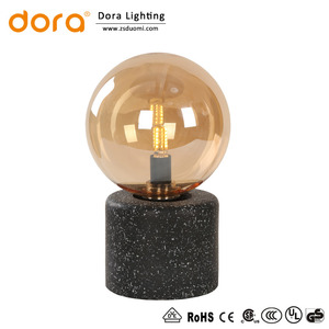 E27 mini Vintage gypsum reading table lamp with globe glass for home decorative