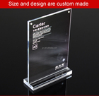 2016 best seller customized 8.5 x 11 acrylic sign holder with magnets