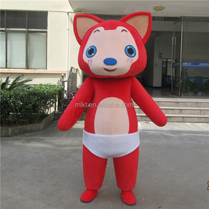 Adult size plush ali fox mascot costume for sale