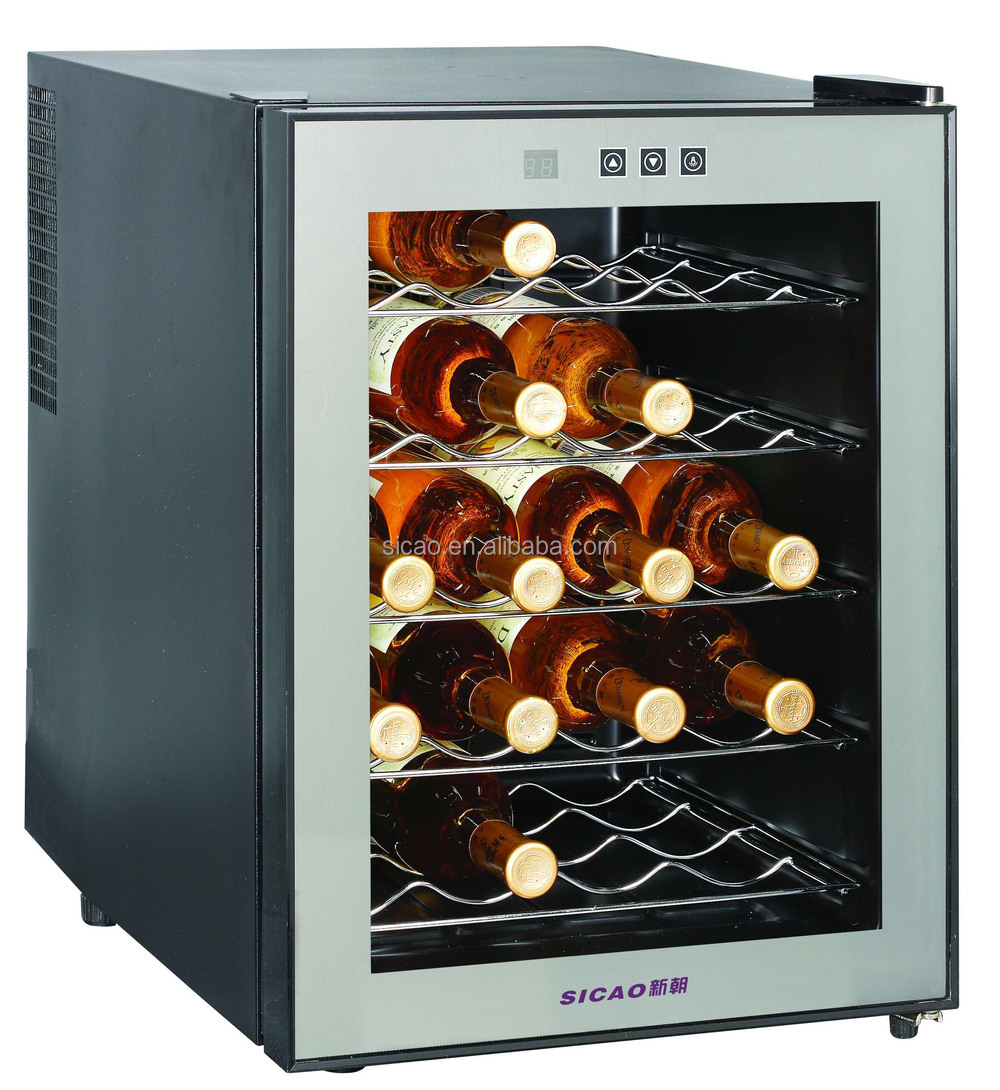 Cabinet With Wine Cooler 16 Bottle Auto Lock Wine Cooler Fridgemirror Cabinet Wine