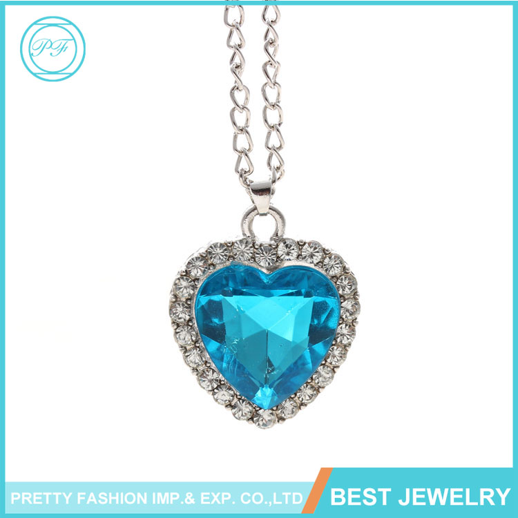 Europe popular Heart of Ocean necklace Fashion Titanic Austrian crystal Pendant Necklace