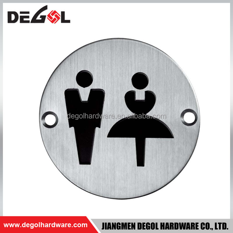Top quality public toilet instruction stainless steel male and female door sign