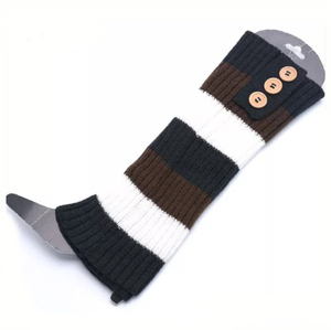 Women Knee High Leg Warmer Stocking Gloves Socks Winter Knit Crochet Legging