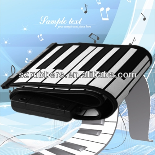 49 Keys folding silicone electronic keyboard roll up silicone piano