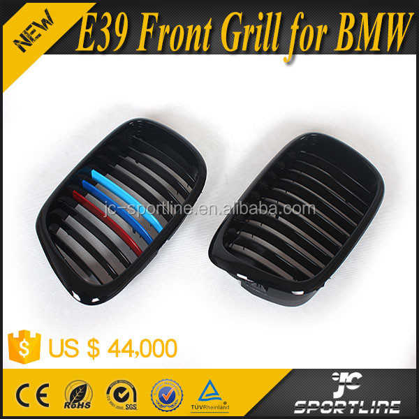00-03 Black Primmer ABS Material E39 Front Grill for BMW 5 Series 4D Sedan