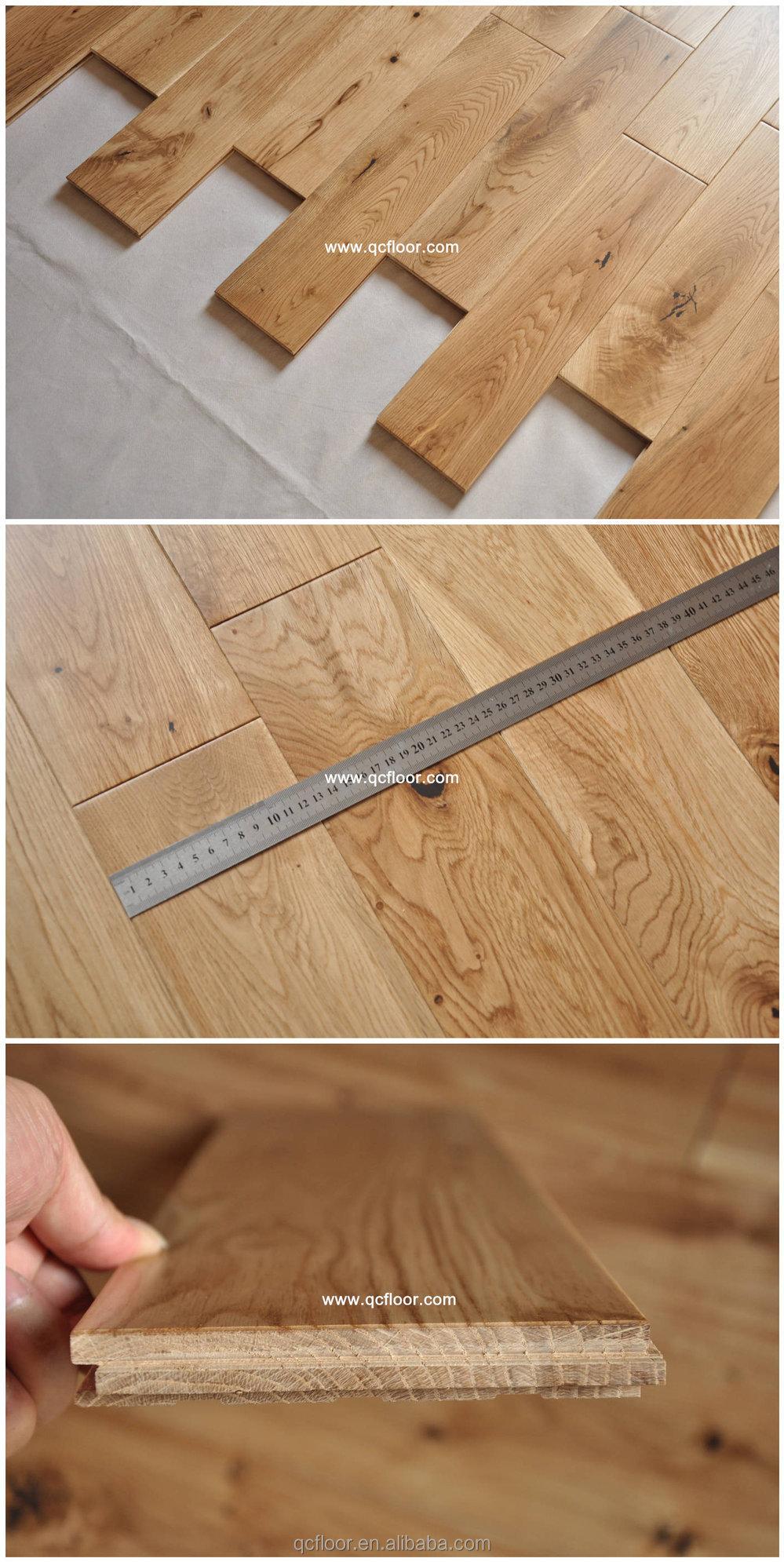 Natural Color Character Grade White Oak Timber Flooring