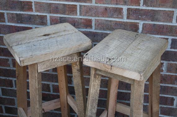 Sgabello di legno vintage personalizzazione design sgabello da bar