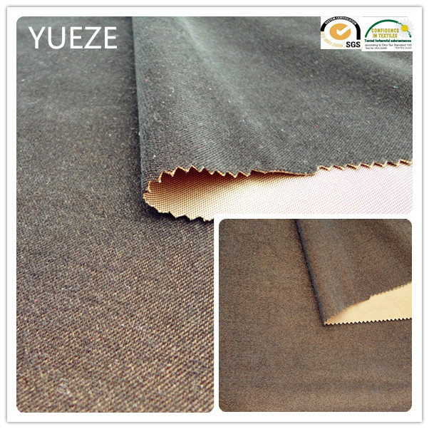 100% polyester brushed korea linen fabric