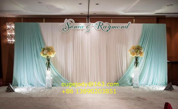 Ice Silk Backdrop Curtain For Wedding Stage Decoration Buy Ice