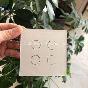 86*86mm European standard organic glass socket wall socket CE approval switch touch glass wholesale