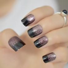 Накладные ногти жемчужного цвета, розовые, белые, французский стиль, акриловые УФ-накладные ногти, пресс для самостоятельного маникюра, сал...(Китай)