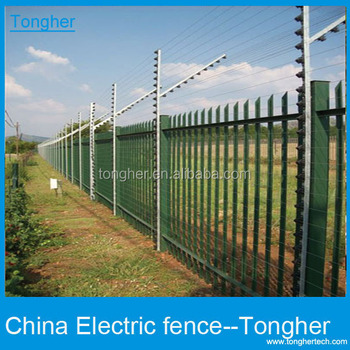 solar electric fence generator alarm system for home with gsmtongher