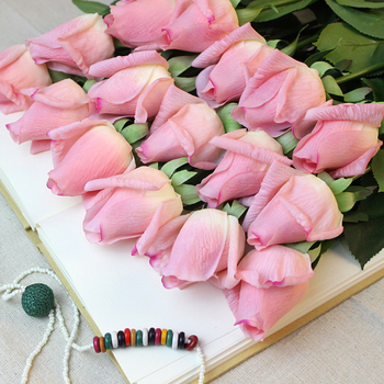 Artificial silk flowers real touch single pink rose for wedding artificial silk flowers real touch single pink rose for wedding decoration mightylinksfo