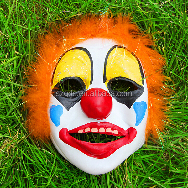 best selling carnival halloween props latex costume scary clown mask for party funny halloween latex