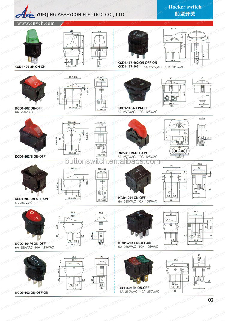 Abbeycon Wholesale High Quality Mini 4/6 Pins Red Illuminated Rocker  Switch/on-off Waterproof Boat Switch With Led - Buy Mini Waterproof Rocker