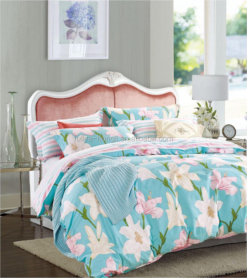 Grossiste parure de lit fleurie acheter les meilleurs - Ensemble draps lit double ...