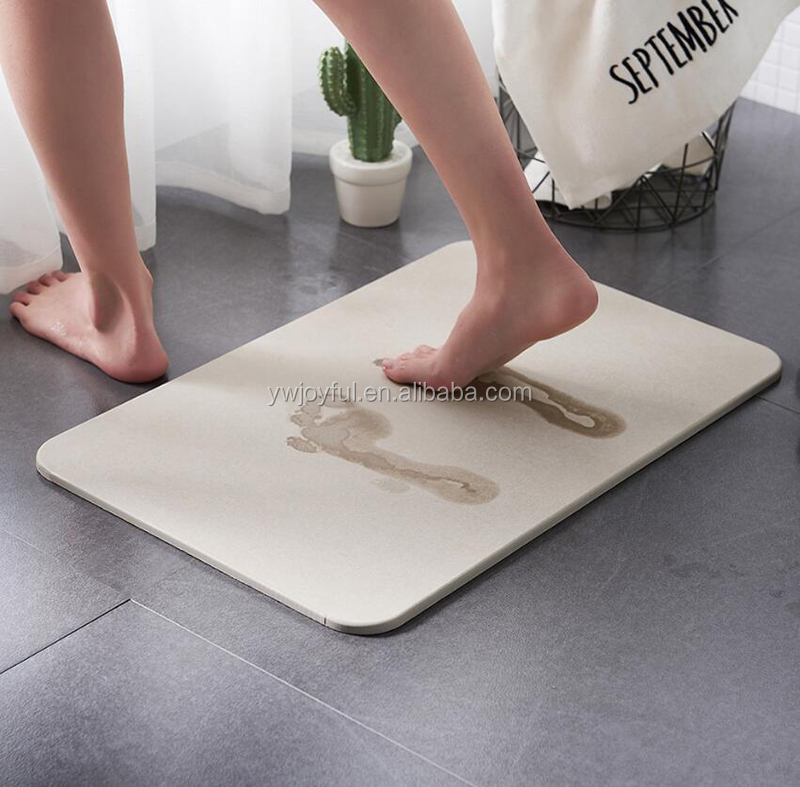 Highly Absorbent Diatomite Bath Mat Anti Slip Eco Friendly Anti Bacterial
