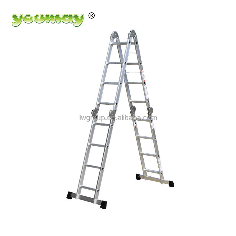 123cm scaffolding height 4x4 multi purpose aluminium ladder