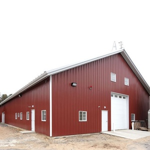 High quality factory price pole barn steel building
