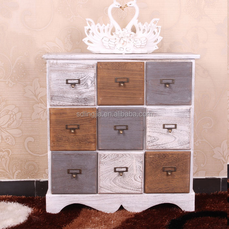 White Wood Storage Cabinet Wicker Drawers Basket Acrylic Makeup ...