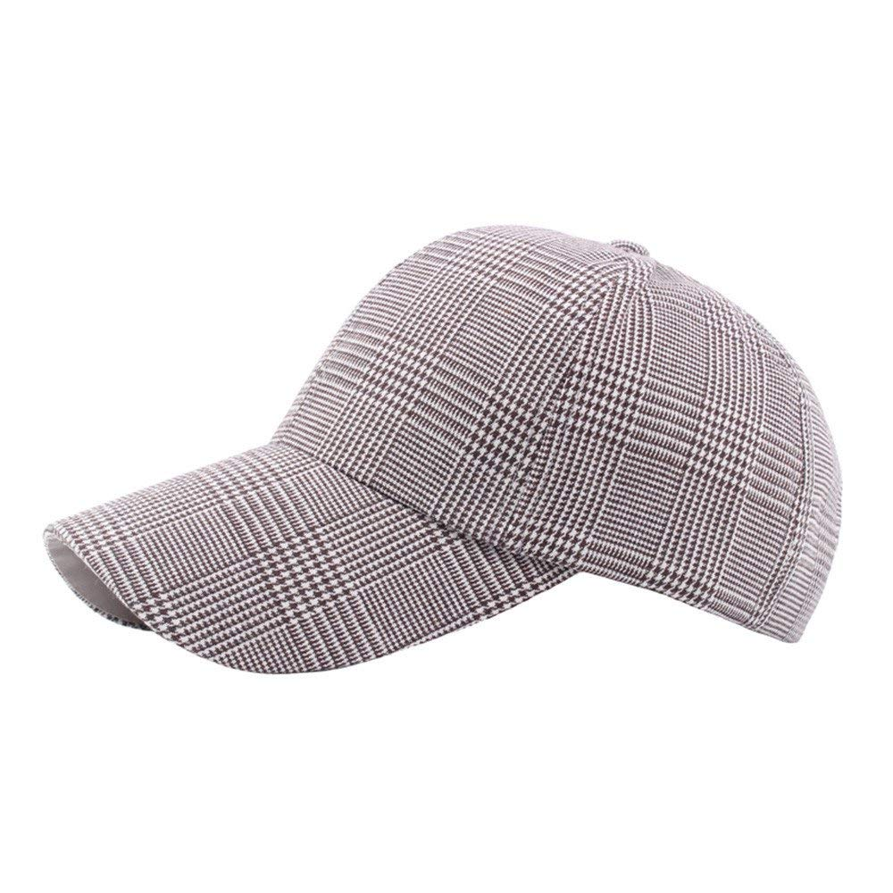 Funic 2018 Hot Sale Unisex Vintage Twill Plaid Cotton Baseball Cap Vintage  Sunshade Berets Hat c7b2c66b9216