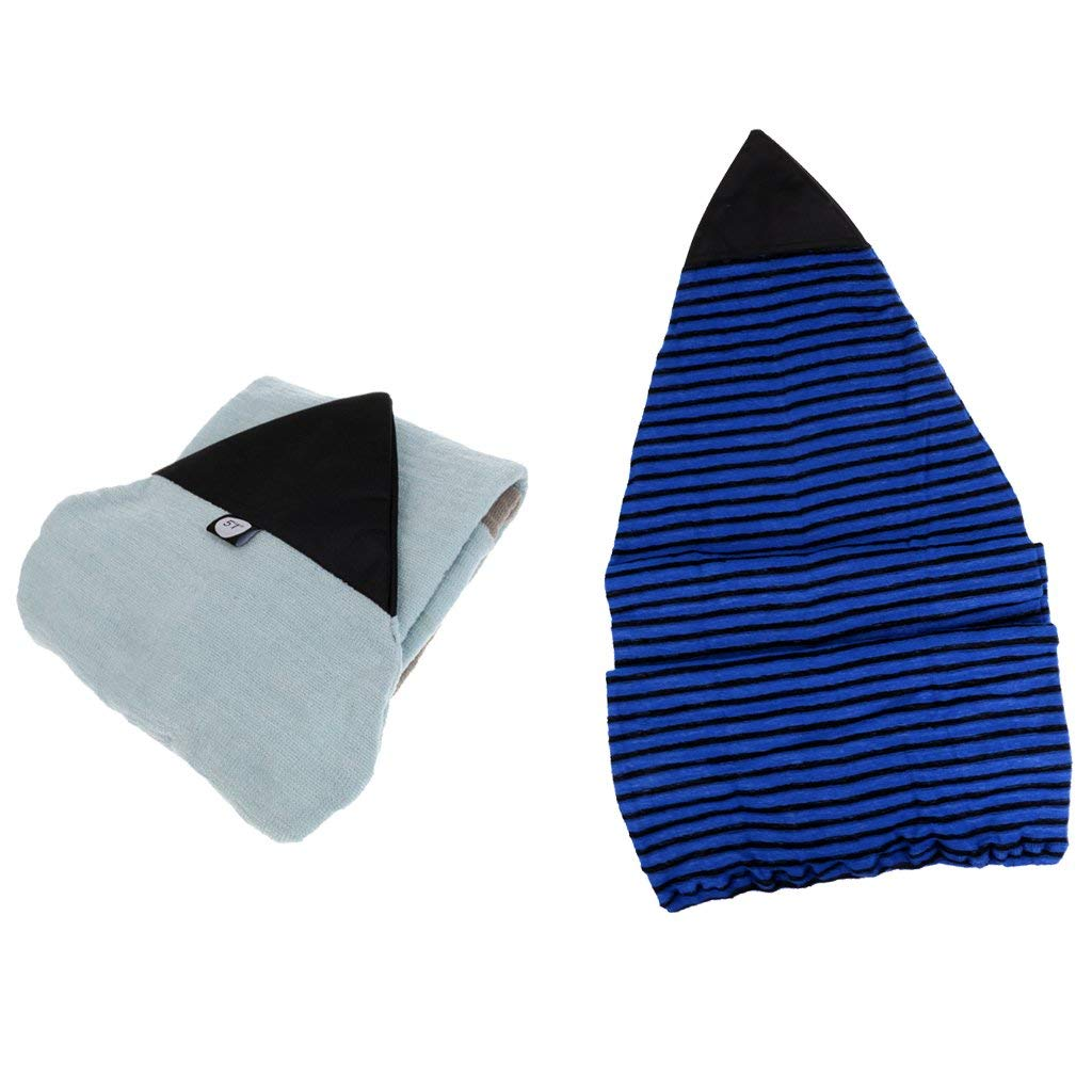 Get Quotations · Dovewill 2 Pieces Stretch Terry Fabric Surfboard Sock  Cover Terry Towelling Bag Water Sport 80df35d25