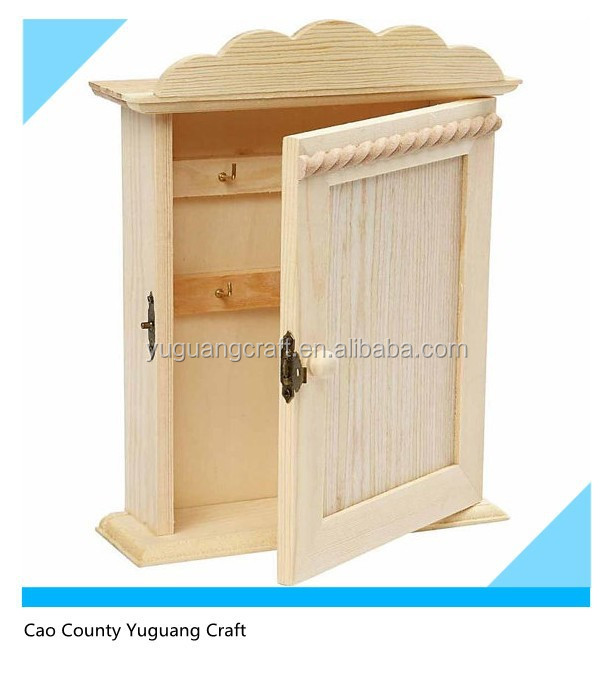 Plain Wooden Key Cabinet For Home Gift   Buy Unfinished Key Holder Wooden  Box,Cheap Small Wall Hanging Wooden Key Box,Pretty Paulownia Wood Key Box  Product ...