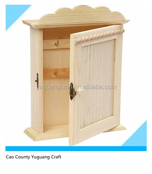 Plain Wooden Key Cabinet For Home Gift