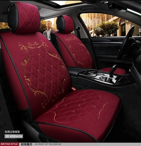 Sandwich fabric car seat cover with 2mm foam 9 pcs/set car seat cover