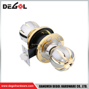 Satin nickel and polish brass zinc alloy knob cam lock