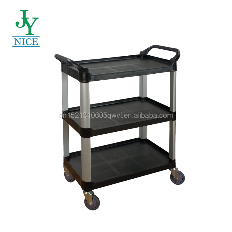 Plastic trolley cart/pp kitchen trolley/hotel food service cart