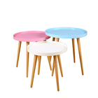 cheap price Design form sanqiang high quality Modern Living Room Furniture Round Wooden Tea/coffee Table