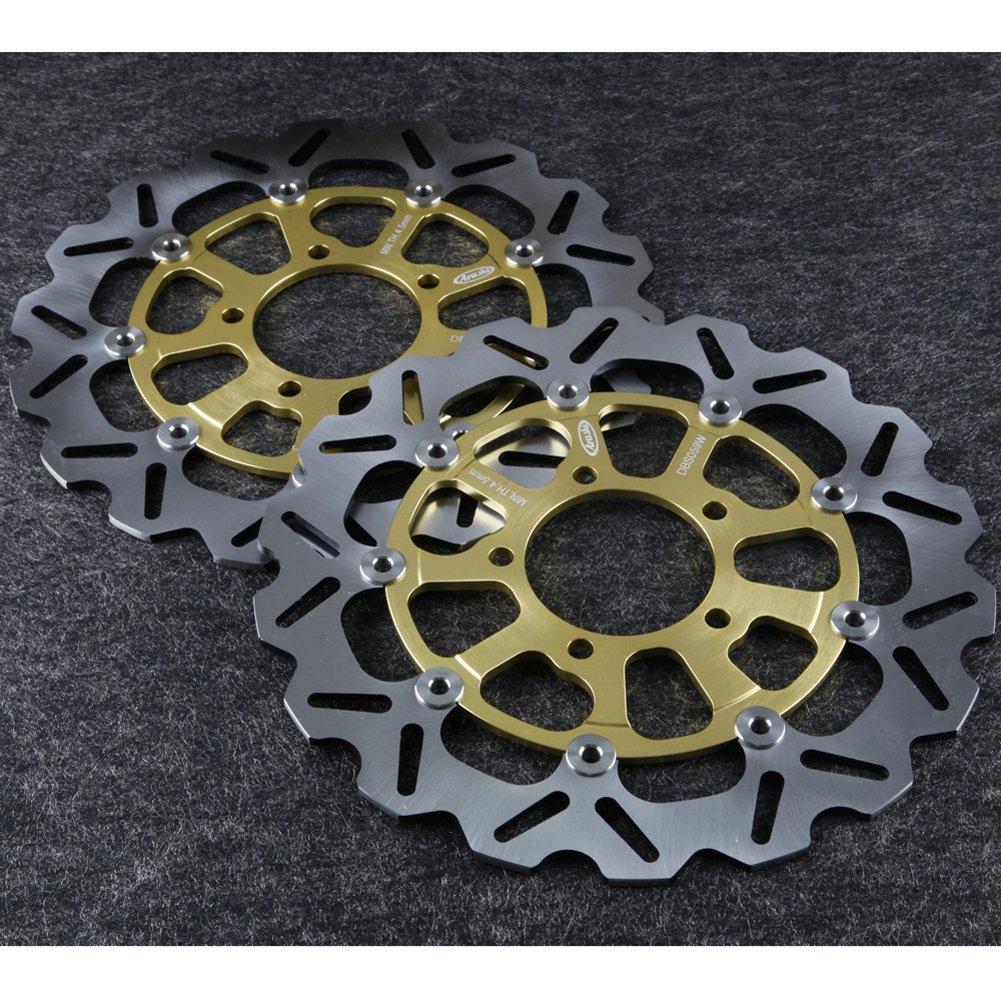 GZYF Front Brake Disc Rotors Fit Kawasaki ZX9R NINJA 900 94-97 ZX7R NINJA 750 96-03