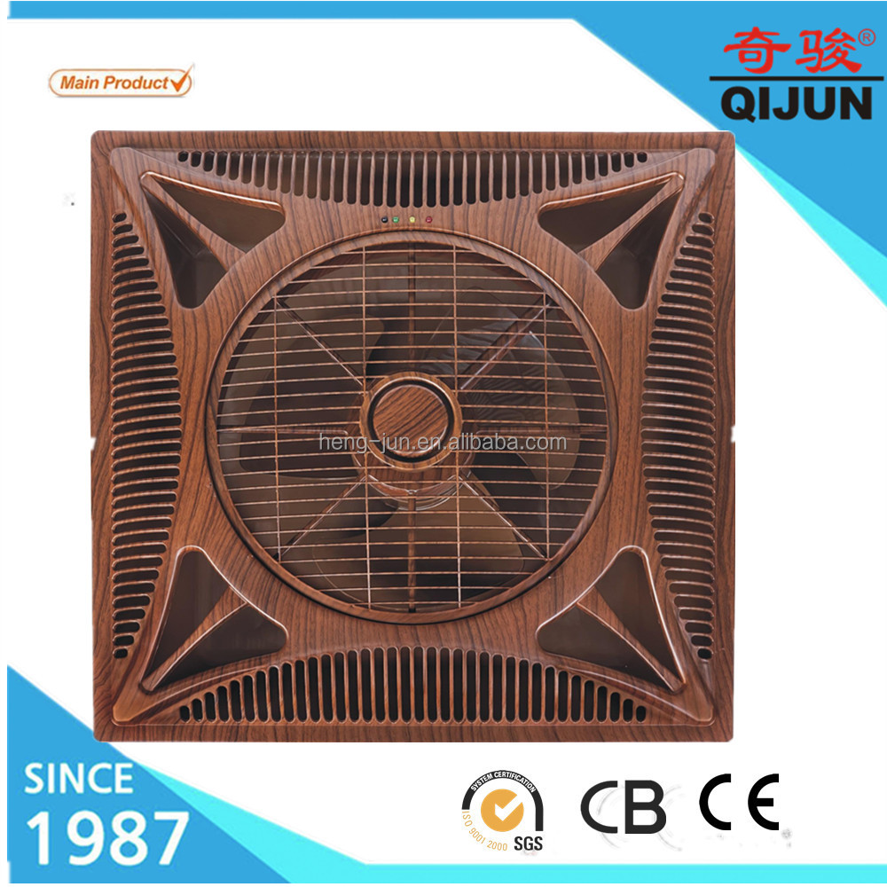 Wooden Color Shami Decorative Ceiling Box Fan With 3 Sd Indicator Light On