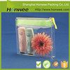 low price clear vinyl PVC zipper pouch/ plastic vinyl bag wholesale