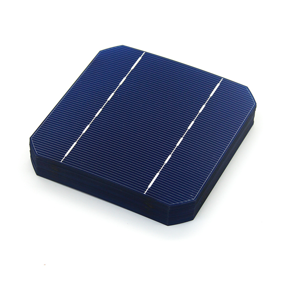 5x5 2.7W Grade A Monocrystalline Silicon Solar Cell PV Wafer for DIY Home Photovoltaic Solar Panels
