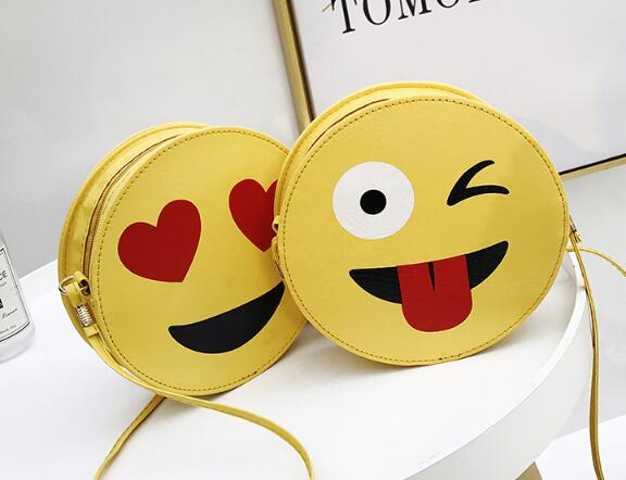 Nette cartoon tasche smiley gesicht tasche