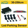 cheap car electronics parts 4 detectors led parking sesnor wholesale