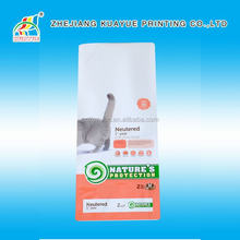 Customized Hot Sale Heat Sealed Side Gusset Plastic Pet Food Bag For Chicken