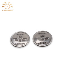 Garment button factory wholesale anti silver metal shank button with logo